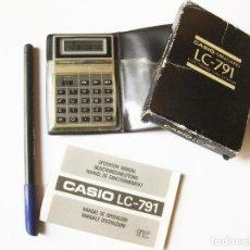 Antigüedades: CALCULADORA CASIO LC - 791 CON INSTRUCCIONES. Lote 103694215
