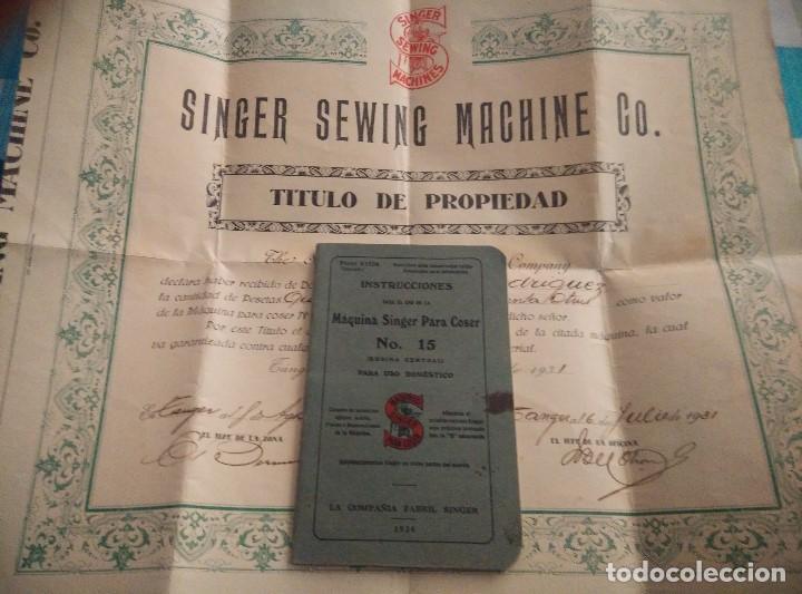 ANTIGUAS INSTRUCCIONES Y DIPLOMA DE USO DE MAQUINA EN PROPIEDAD SINGER 1931,EN PERFECTAS CONDICIONES (Antigüedades - Técnicas - Máquinas de Coser Antiguas - Singer)