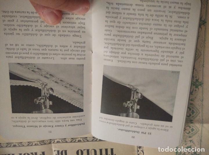 Antigüedades: ANTIGUAS INSTRUCCIONES Y DIPLOMA DE USO DE MAQUINA EN PROPIEDAD SINGER 1931,EN PERFECTAS CONDICIONES - Foto 3 - 103734555
