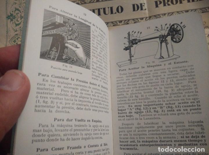 Antigüedades: ANTIGUAS INSTRUCCIONES Y DIPLOMA DE USO DE MAQUINA EN PROPIEDAD SINGER 1931,EN PERFECTAS CONDICIONES - Foto 4 - 103734555