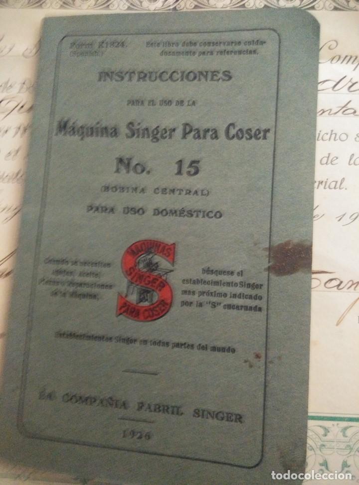 Antigüedades: ANTIGUAS INSTRUCCIONES Y DIPLOMA DE USO DE MAQUINA EN PROPIEDAD SINGER 1931,EN PERFECTAS CONDICIONES - Foto 5 - 103734555