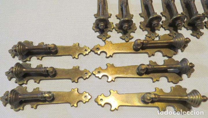 Antigüedades: 12 TIRADORES PUERTAS ARMARIOS-MUEBLES ANTIGUOS (9+3) - Foto 8 - 103796159