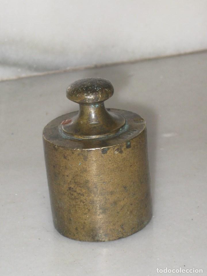 PESA DE 500 GRAMOS EN BRONCE SELLADA VALENCIA (Antigüedades - Técnicas - Medidas de Peso - Ponderales Antiguos)