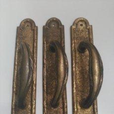 Antigüedades: MANILLAS DE BRONCE. Lote 103838579