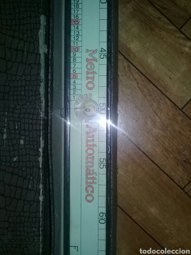 Antigüedades: Metro Automático Registrador Patente Universal A. PALACIOS JGT FNMT Barcelona - Foto 7 - 103848528