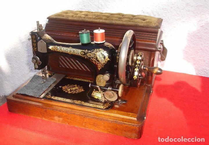 PRECIOSA Y ANTIGUA MAQUINA DE COSER, SINGER, MODELO 28K, AÑO 1898 FUNCIONA Y COSE (Antigüedades - Técnicas - Máquinas de Coser Antiguas - Singer)