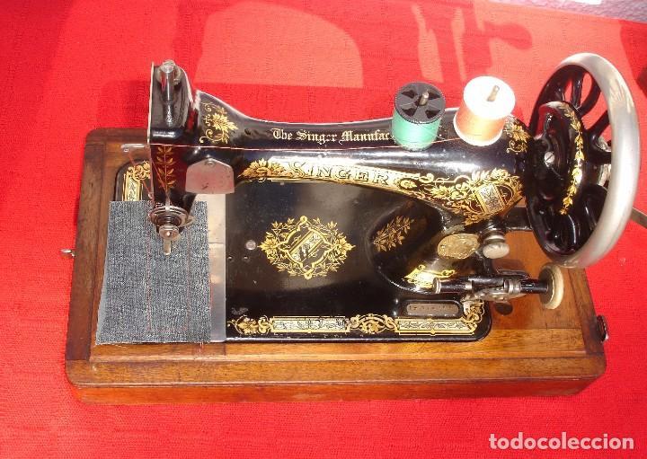 Antigüedades: PRECIOSA Y ANTIGUA MAQUINA DE COSER, SINGER, MODELO 28K, AÑO 1898 FUNCIONA Y COSE - Foto 2 - 103935879