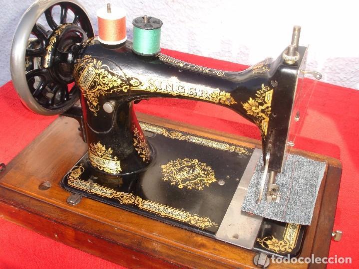 Antigüedades: PRECIOSA Y ANTIGUA MAQUINA DE COSER, SINGER, MODELO 28K, AÑO 1898 FUNCIONA Y COSE - Foto 4 - 103935879
