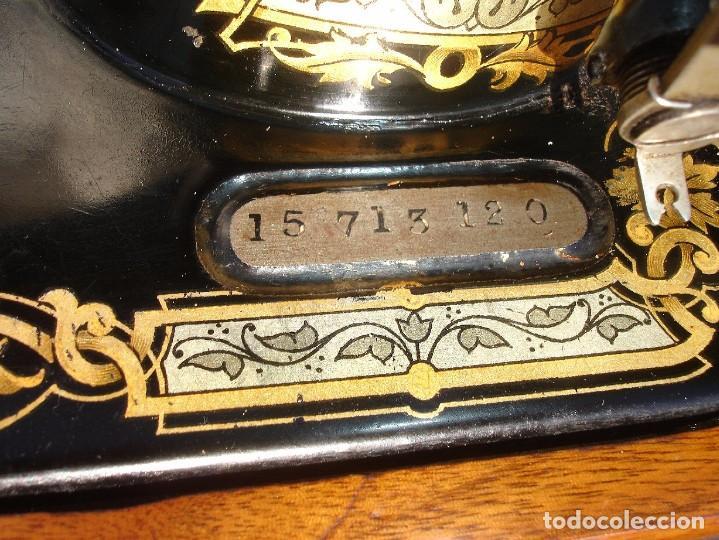 Antigüedades: PRECIOSA Y ANTIGUA MAQUINA DE COSER, SINGER, MODELO 28K, AÑO 1898 FUNCIONA Y COSE - Foto 7 - 103935879