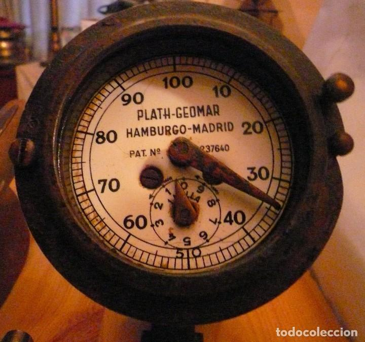 Antigüedades: CORREDERA MECANICA PLATH-GEOMAR HAMBURGO-MADRID Patente nº 237640 - Foto 2 - 103957691