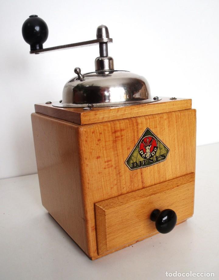 MOLINILLO DE CAFÉ MARCA DIENES. MODELO 1610-SOLIDA. ALEMANIA. CA. 1950 (Antigüedades - Técnicas - Molinillos de Café Antiguos)