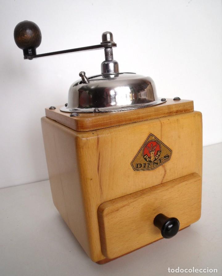 MOLINILLO DE CAFÉ MARCA DIENES. MODELO 5226-L. ALEMANIA. CA. 1950 (Antigüedades - Técnicas - Molinillos de Café Antiguos)