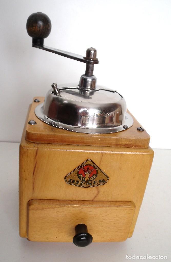 Antigüedades: MOLINILLO DE CAFÉ MARCA DIENES. MODELO 5226-L. ALEMANIA. CA. 1950 - Foto 4 - 103999495