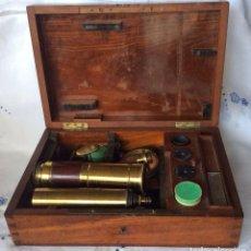 Antigüedades: ANTIGUO MICROSCOPIO FRANCÉS CHARLES CHEVALIER ,SIGLO XIX,IDEAL COLECCIONISTAS. Lote 103773599