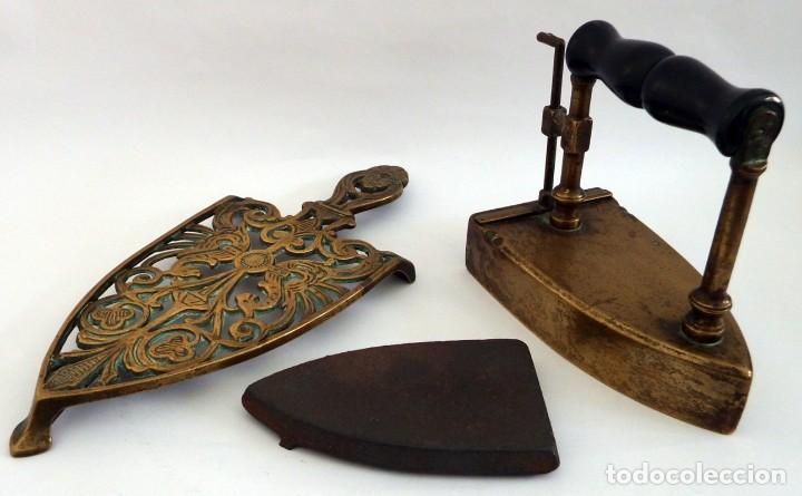 Antigüedades: PLANCHA EN BRONCE - Foto 10 - 104040499