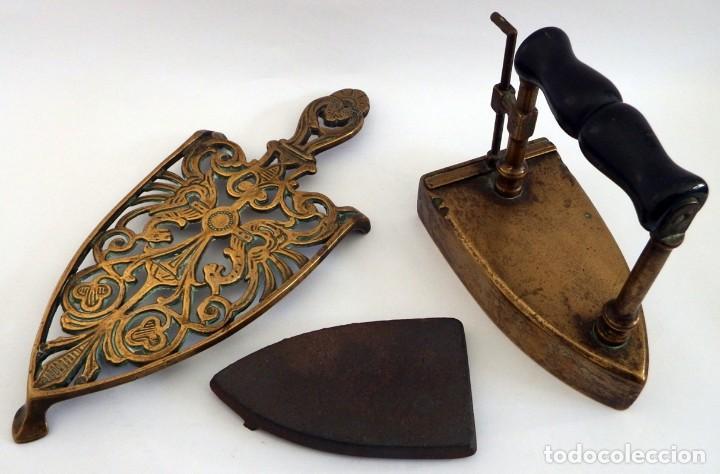 Antigüedades: PLANCHA EN BRONCE - Foto 11 - 104040499
