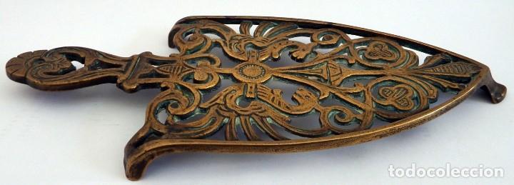 Antigüedades: PLANCHA EN BRONCE - Foto 15 - 104040499