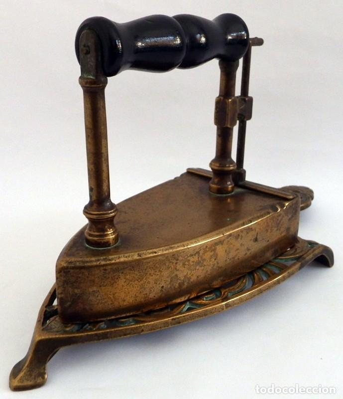 Antigüedades: PLANCHA EN BRONCE - Foto 17 - 104040499