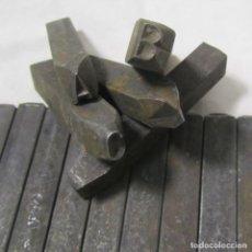 25 punteros de hierro para grabar letras en metal