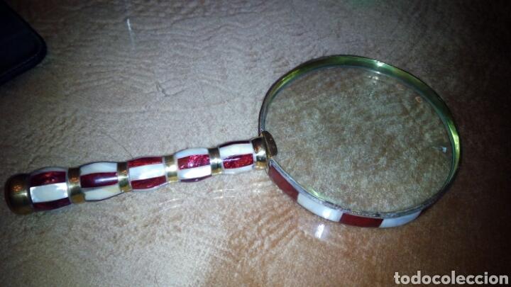 Antigüedades: Gan Lupa de Esmalte 10 cm diametro - Foto 4 - 104095651