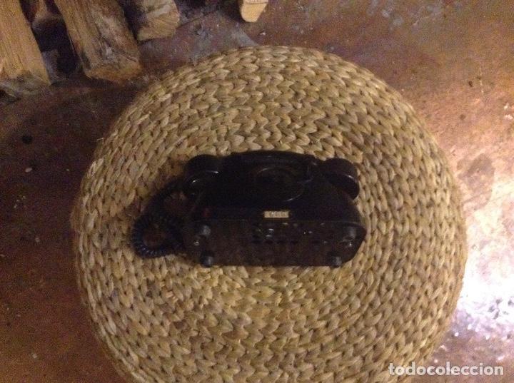 Teléfonos: ANTIGUO TELÉFONO DE BAQUELITA CON MANIVELA FUNCIONA - Foto 6 - 104105287