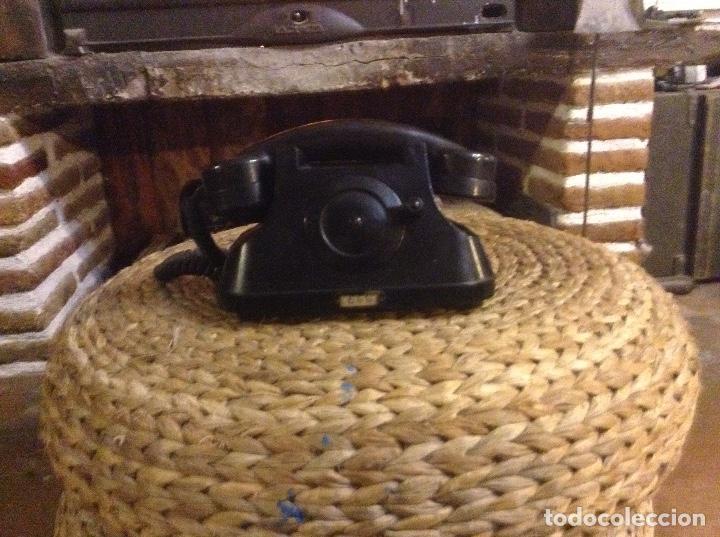 Teléfonos: ANTIGUO TELÉFONO DE BAQUELITA CON MANIVELA FUNCIONA - Foto 9 - 104105287