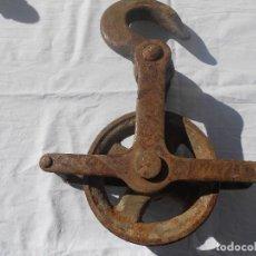 Antigüedades: GARRUCHA,POLEA GRANDES DIMENSIONES. Lote 104150207