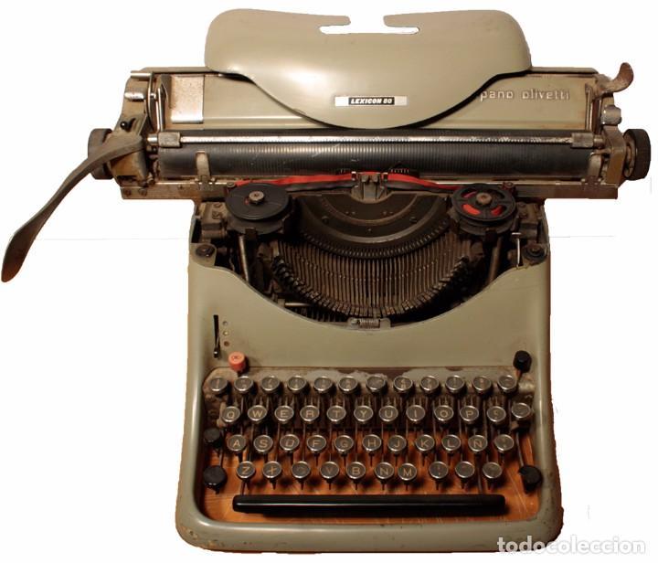 Antigüedades: Máquina de escribir Hispano Olivetti, modelo Lexicon 80 - Foto 2 - 104170379