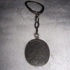 Antigüedades: LLAVERO ANTIGUO PLATA. Lote 104293839