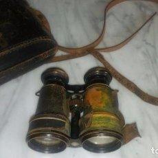 Antigüedades: BINOCULAR MARCA GLASER ANTERIOR A 1954 CON SU ESTUCHE DESGASTADO POR EL USO.. Lote 104305427