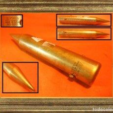 Antigüedades: ANTIGUA PLOMADA O CALA MARINA LUFKIN NO. 590 EN LATÓN HECHO EN U.S.A. VINTAGE GENUINO 517 GR.. Lote 104313815