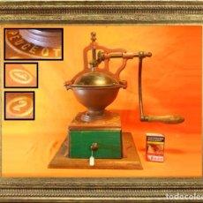 Antigüedades: ENORME MOLINO DE CAFÉ PEUGEOT 2A FUNCIONANDO 8,5 KILOS Y 43 CENTÍMETROS DE ALTO. Lote 104356347