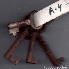 Antigüedades: LOTE DE 4 LLAVES ANTIGUAS HEMBRAS. Lote 104367935