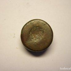 Antigüedades: ANTIGUO PONDERAL DE BRONCE. + - SIGLO XV. PESA 62 GRAMOS. MARCA ESTRELLA DE 6 PUNTAS.. Lote 104373439