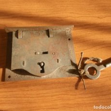 Antigüedades: CERRADURA COMPLETA , MIDE 9,5CM X 7 CM . Lote 136376785