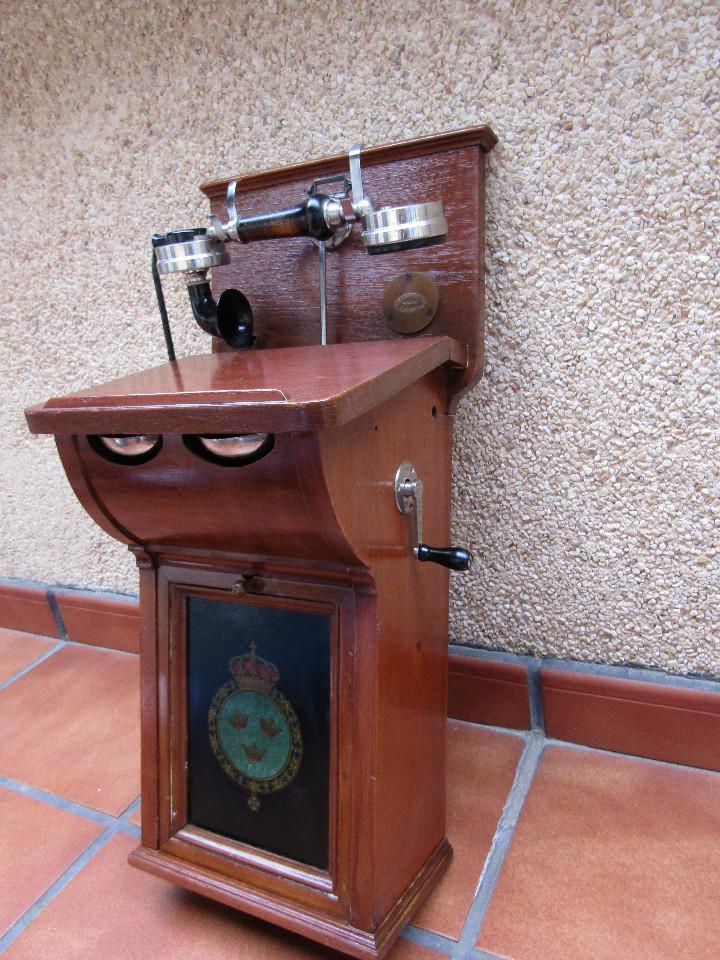 Teléfonos: ANTIGUO TELEFONO DE GRAN TAMAÑO DE LA MARCA TELEFRAFVERKETS VERKSTAD (ERICSSON ). - Foto 2 - 104453603