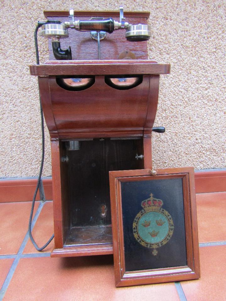 Teléfonos: ANTIGUO TELEFONO DE GRAN TAMAÑO DE LA MARCA TELEFRAFVERKETS VERKSTAD (ERICSSON ). - Foto 3 - 104453603