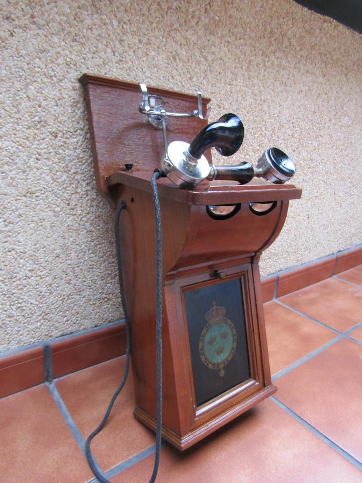 Teléfonos: ANTIGUO TELEFONO DE GRAN TAMAÑO DE LA MARCA TELEFRAFVERKETS VERKSTAD (ERICSSON ). - Foto 4 - 104453603