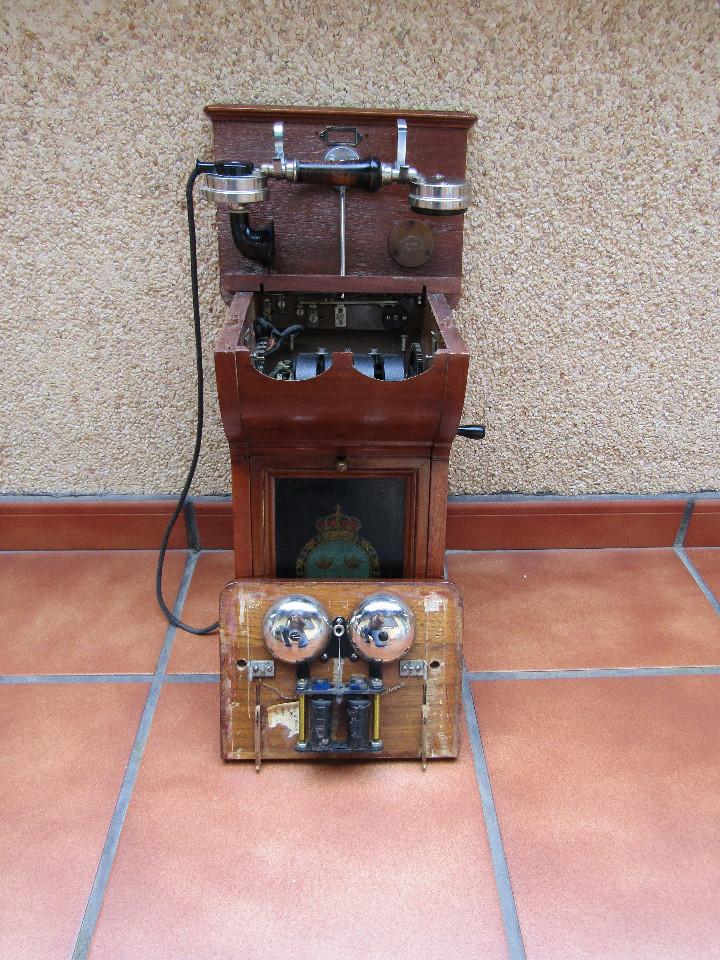 Teléfonos: ANTIGUO TELEFONO DE GRAN TAMAÑO DE LA MARCA TELEFRAFVERKETS VERKSTAD (ERICSSON ). - Foto 5 - 104453603