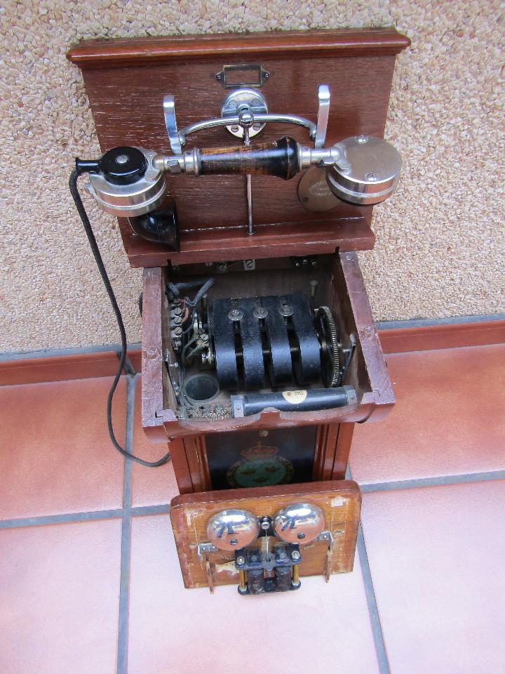 Teléfonos: ANTIGUO TELEFONO DE GRAN TAMAÑO DE LA MARCA TELEFRAFVERKETS VERKSTAD (ERICSSON ). - Foto 6 - 104453603