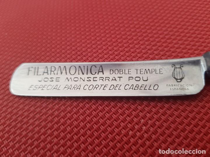 Antigüedades: NAVAJA FILARMONICA JOSE MONSERRAT POU ¨ DOBLE TEMPLE ¨ ESPECIAL PARA CORTE DE PELO - Foto 4 - 104514943