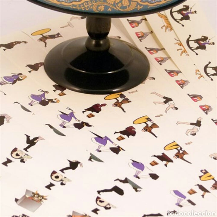 Antigüedades: BELLISIMO ZOOTROPO REPLICA DE LOS ORIGINALES DEL MUSEO.ES PRECIOSO! 22X20Cm ESPECIAL COLECCIONISTAS! - Foto 5 - 98861214