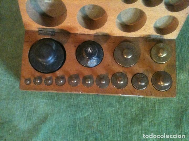 Antigüedades: FABULOSO ANTIGUO Y COMPLETO JUEGO DE 14 PESAS DE 1 g a 1000 g (A01) - Foto 4 - 104690711