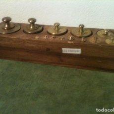 Antiques - EXTRAORDINARIO ANTIGUO JUEGO DE 15 PESAS DE BRONCE de 1g a 1000g (E02) - 104795559