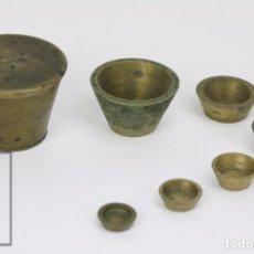 Antigüedades: ANTIGUO PONDERAL DE VASOS ANIDADOS FRANCÉS - 500 GRAMOS - BRONCE - SIGLO XIX . Lote 104960259