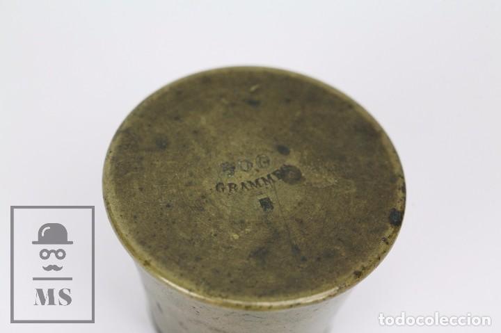 Antigüedades: Antiguo Ponderal de Vasos Anidados Francés - 500 Gramos - Bronce - Siglo XIX - Foto 3 - 104960259