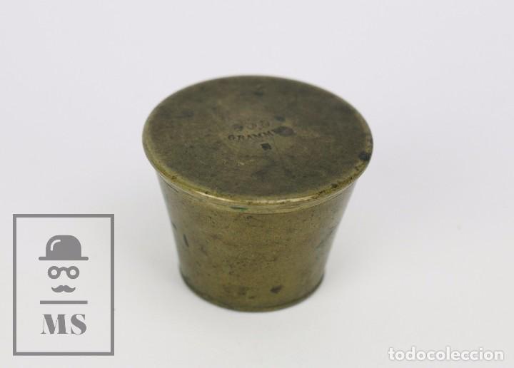 Antigüedades: Antiguo Ponderal de Vasos Anidados Francés - 500 Gramos - Bronce - Siglo XIX - Foto 12 - 104960259