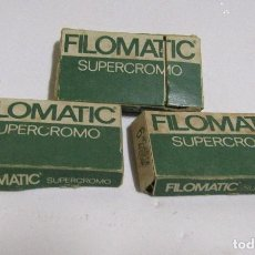 Antigüedades: FILOMATIC SUPERCROMO 3 CAJAS COMPLETAS DE 6 HOJAS SIN USO (18 HOJAS). Lote 105006175