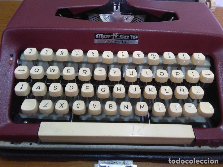 Antigüedades: Máquina de escribir Maritsa 12 Especial años 70!!! - Foto 4 - 105039759