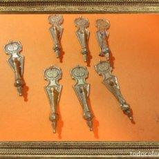 Antigüedades: ANTIGUOS POMOS TIRADORES EN BRONCE PRECIOSOS (IDEALES PARA RESTAURACIÓN) 100% ORIGINALES. Lote 105109591
